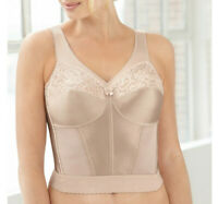 Brand Name MAGIC~LIFT Nude Long-Line Bra WIDE-STRAPS Slims & Shapes NEW & SEALED
