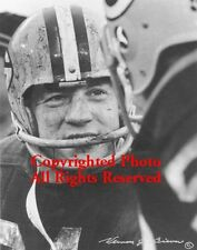 "Jim Taylor Signed by Photographer Packers Mud Bowl Classic B/W 11""x14"" Photo"