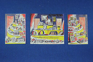 O Scale Plasticville - 5 & 10 Store - Window Inserts (3)  - Reproduction
