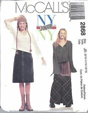 UNCUT Vintage McCalls Sewing Pattern Girls Junior Teen Top Skirt Apron 2868 9-14