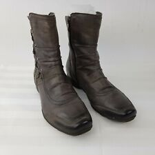 BONITA weiche Leder Damen Stiefeletten Schuhe Stiefel Boots EUR 38 UK 5 grau