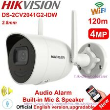 DS-2CV2041G2-IDW Hikvision 4MP WiFi IP Bullet Camera Mic/Speaker Two-way Talk