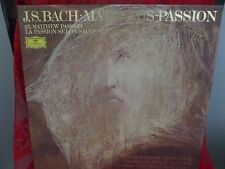 J.S. BACH MATTHAUS PASSION  Box Set 4 Vinyl/Record/LP