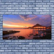 Acrylglasbilder Wandbilder Druck 140x70 Steine Meer Landschaft