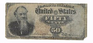 Fractional 4th Issue 50 Cents United States Currency Reverse Error Note