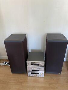 TEAC H500 Series HiFi System With Vintage KEF Concord Iv Speakers.