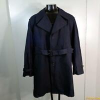 HARBOR MASTER USA Polyester Long RAINCOAT Rain Trench Coat Mens 46L XLT Blue