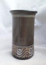 "Vintage 1993 Wishon Harrell Pottery Modern Glaze 7 3/4"" Cylindrical Vase Muncie"