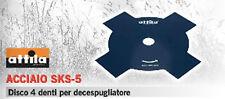 LAMA DISCO PROFESSIONALE DECESPUGLIATORE UNIVERSALE 4 DENTI ACCIAIO SKS - 5