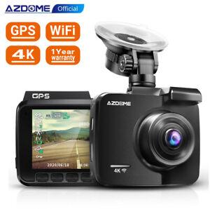 AZDOME HD 4K Autokamera Dashcam GPS WIFI 170° Weitwinkel Video Record Nachtsicht