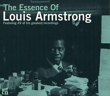 THE ESSENCE OF LOUIS ARMSTRONG - 2 CD BOX SET - WILD MAN BLUES, STARDUST & MORE