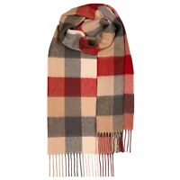 100% Lambswool tartan Scarf by Lochcarron | Red Buffalo | Made in Scotland