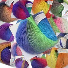 Sale 50gr Ball Soft Cashmere Wool Colorful Rainbow Wrap Shawl Hand Knit Yarn