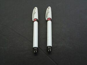 2 Pack Pentel EnerGel Radio Pearl Liquid Gel Pen 0.5mm / Needle Tip / Red / T2
