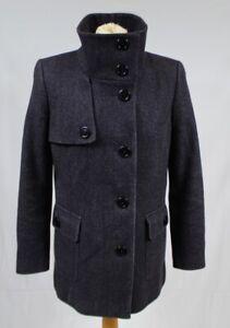Paul Costelloe Wool Blend Dressage Coat 12 Purple Herringbone Tweed Smart Winter
