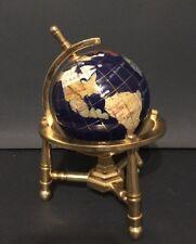 Small Globe With Precious Stone And Brass