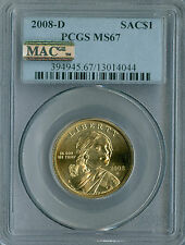 2008-D SACAGAWEA DOLLAR PCGS MAC MS67 PQ 2ND FINEST REGISTRY BUSINESS STRIKE *