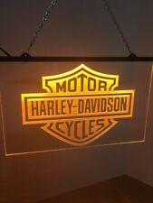 Harley Davidson Lighted Sign Led Man Cave Garage, Game Room , Bar