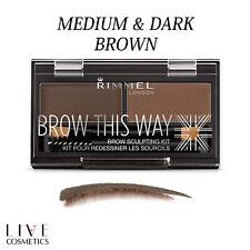 Rimmel Brow This Way Eyebrow Powder Sculpting Kit - DARK & MEDIUM BROWN