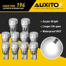 10x AUXITO 194 LED 168 T10 Wedge Interior Dome Trunk Light Bulbs 5500K Canbus