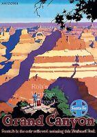 Santa Fe Railroad Super Chief Train Grand Canyon Travel Poster 13 x19
