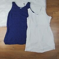 Liz Lange Maternity Blouse Top Set of 2 Sleeveless V Neck Womens Sz XS S M L XXL