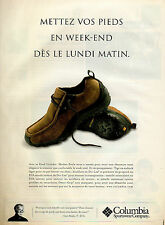 Publicité 2003  Chaussures Columbia Sportswear Company collection mode