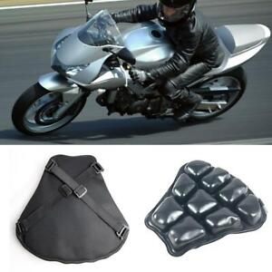 Motorcycle 30x31cm Air Pad Airbag Seat Cushion Cover+Pump Accessories Universal