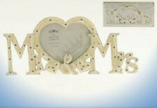 "1 x 9"" SILVERPLATED ENAMELLED MR & MRS  WEDDING PHOTO FRAME LP16329"