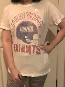 Junk Food NFL Collection New York Giants Short Sleeve T-shirt Tee NWT L Rare