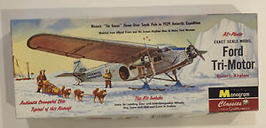 NEW OTHER 85-0015 Monogram Classic Ford Tri-Motor Kit. 1929 Antarctic Expedition