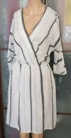 Massimo Dutti bildschönes Kleid Gr. M 38 3/4 Arm Wickel-Optik