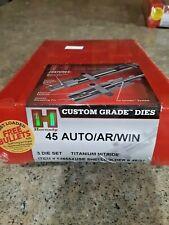 HORNADY 3 DIE TITANIUM NITRIDE SET 45 AUTO/AR/WIN