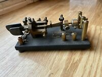 Bent Frame Dow Key Morse Code Telegraph Keyer Serial O449 Scarce The Dow Key Co.