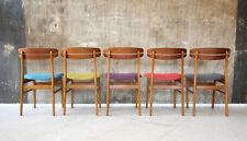 5 x 60er Teak Esszimmerstühle Danish Mid-Century 60s Dining Chairs Vintage