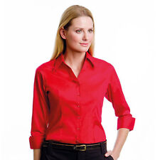No Pattern Cotton Blend Semi Fitted Formal Women's Tops & Shirts