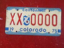 License Plate Tag Colorado Sample XX 000 Rustic USA