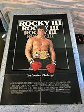 "Rocky III 1982 Original 1 Sheet Movie Poster 27"" x 41"" (F/VF) Sylvester Stallone"
