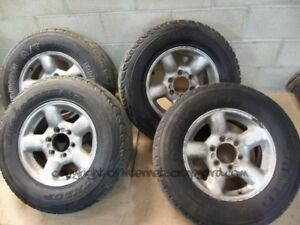 Isuzu Trooper Bighorn Duty 3.0 91-02 Gen2 alloys alloy wheel set tyres 245 70 16