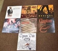 7 Promotional Record Posters Eric Clapton, 2 Pac, John Fogerty, Slayer, Opus Dai