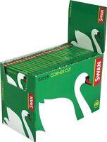 Swan Regular Green Corner Cut Cigarette Rolling Paper 100 Booklets (5000 papers)