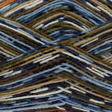 King Cole Zig Zag 4 Ply Knitting Yarn Suitable for Socks Shade 3158 Pinecone
