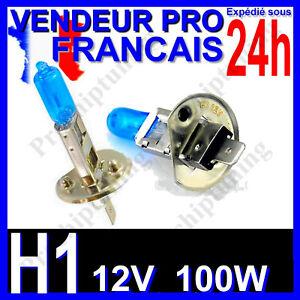 AMPOULE H1 XENON 100W LAMPE POUR VOITURE FEU SUPER WHITE PHARE 12V PLASMA 6500K