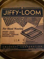 """1940s Vintage Hand Weaving 4-3/4"""" Calcraft Jiffy-Loom #401 In Box as is"""
