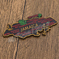 Jamaica's Map Fridge Magnet 3D Tourist Souvenirs Refrigerator Magnetic Sticker