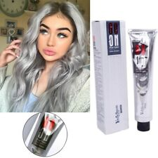 Fashion Smoky Gray Punk Style Silver Color Nature Permanent Super Hair Dye Cream