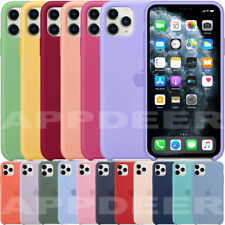 ORIGINAL SILICONE LEATHER CASE FOR IPHONE SE 2020 11 PRO MAX GENUINE OEM COVER