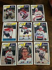 1983-84  O-Pee-Chee  washington capitals   14 card team set/lot