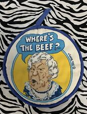 """WENDY'S """"Where's The Beef"""" Pot Holder Vintage 1984"""