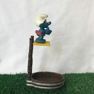 Smurfs High Diver Smurf 40243 RARE Vintage 1983 Figure Schleich Toy